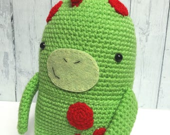 Crochet dinosaur toy, dinosaur plushie, amigurumi dinosaur, dinosaur toy