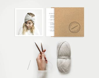 DIY KIT ⨯ Knit Turban Headband ⨯ The Roseaux ⨯ 5 colors available