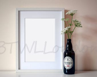 frame mock up, picture frame stock photo, picture frame mockup, styled stock photography, product mockup, scandinavian interior mockup, wall