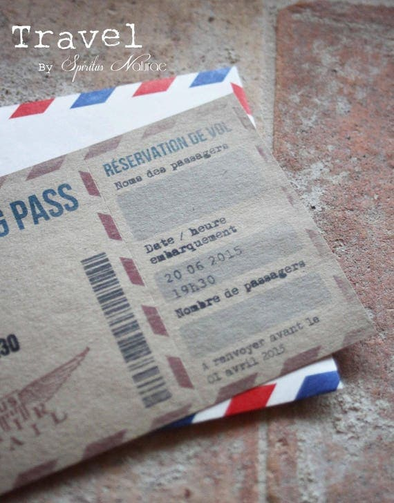 Favori Invitation / faire-part / Boarding pass ANNIVERSAIRE thème VK85
