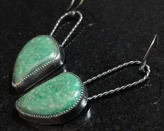 Variscite and Sterling Silver Earrings