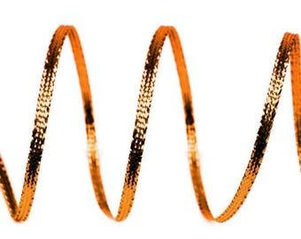 10 m orange 3 mm silver lurex Ribbon