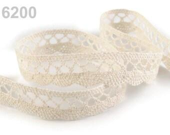 06200 - 18 mm ivory cotton lace Ribbon