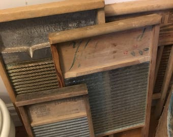 Various, Antique, Clothes, Washboards, Listing is for just one, please indicate which one you want