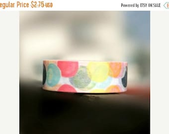 MSF Sale - Washi Tape - Rainbow Multi Color Bubbles Ballon Ball - no.455 // 15mm x 10m