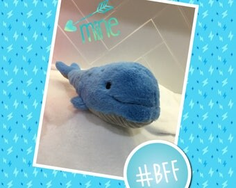 Weighted toy 750gms blue whale