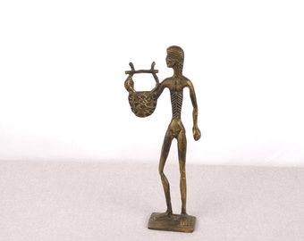 Apollo God, Museum Replica, Greek Statue, Apollo Sculpture, Brass Statue, Greek Brass Sculpture, Apollo Sculpture, Brass Office Paperweight