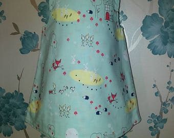 Beautiful handmade 3-6 months baby girl reversible dress