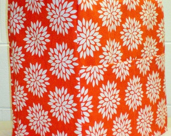 Orange Floral Starburst Sunbeam Heritage Series 4.6qt Mixmaster Stand Mixer Cover w/ Pockets (2 Options Available)