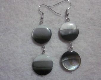 Black White Gray Earrings