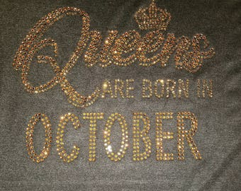 Queen Are Born in October- Gold Stones