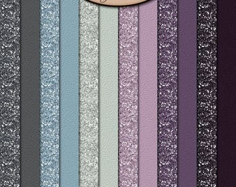 Digital Scrapbook: Everlasting Solid Glitter Paper Pack