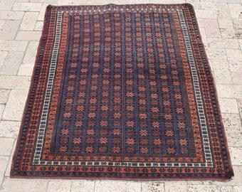 Afghan Rug 40''x51'' Hand Woven Carpet 102x130cm Area Rug Oriental Rug Wool Rug
