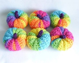 Rainbow Pumpkin Decorations