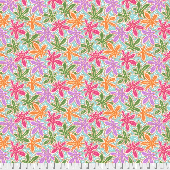 Pre-Order LACY LEAF Pastel Philip Jacobs PWPJ0093.PASTE Kaffe Fassett Collective Sold in 1/2 yd increments