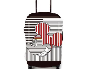Luckiplus Stripe Luggage Cover Suitcase Protector Fits 18-32 Inch Luggage