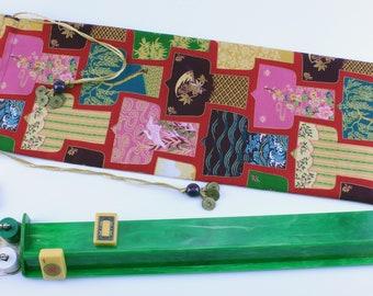 Standard Mahjong rack bag ~ draw-string ~ Kimono Pattern ~ Mah Jongg