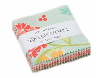 New! Moda Flower Mill Mini Charm Pack by Corey Yoder of Coriander Quilts
