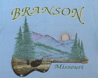 80's Vintage T Shirt Branson Missouri Country Music Tourist Souvenir