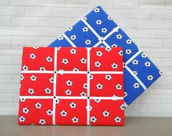 SALE! | Football print | red | blue | kids | memo board | noticeboard | 30 x 40cm