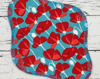 "8"" Liner/everyday use cotton menstrual pad, *waterproof*, waterproof pad, menstrual cloth, cloth pad"