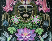 Rain Forest Bloom visionary art Large signed print