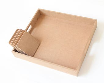 IVEI DIY tray and Coaster(set of 6)