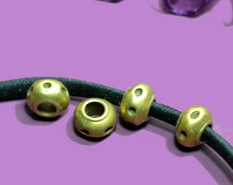 4 beads to string 05mm hammered bronze
