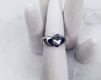 Sterling Silver Claddagh Ring | 0.925 Sterling silver ring