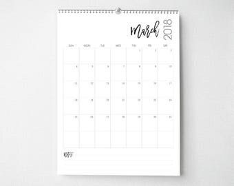 2018 Wall Calendar, 8.5x11, Wall Calendars, Modern Gifts for Her  (cal0054)