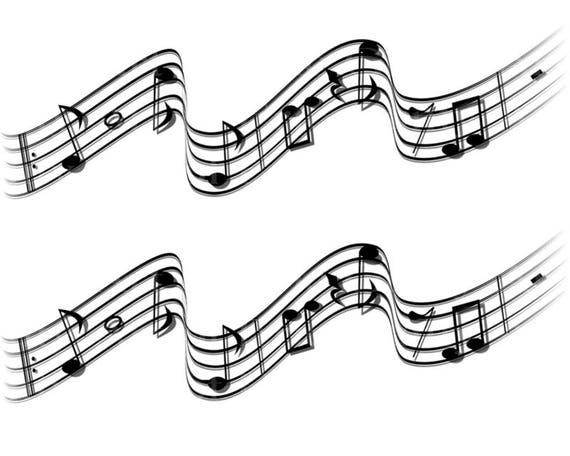 Musical Notes Band Birthday - Edible Cake Side Toppers- Decorate The Sides of Your Cake! - D22863