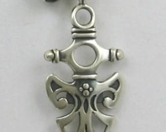 """Sterling Silver Celtic Symbol """"Protection"""" Shield Necklace"""