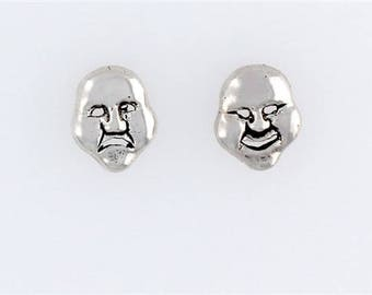 Sterling Silver Comedy Tragedy Post or Stud Earrings