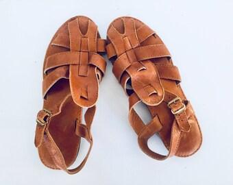 Huarache Sandals Huaraches Leather Size 6.5 36 37