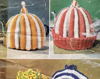 Tea Cosy Nest Egg Cosy Vintage Knitting Pattern - Bestway B2587