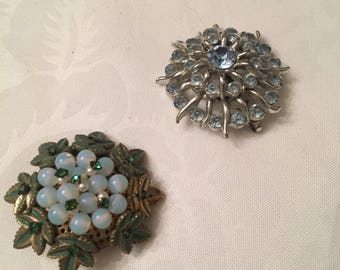 Two broaches circa 1950's-1960's