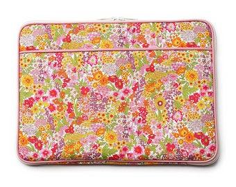 11/13 inch Laptop Case Bag :  LIBERTY Margaret Annie (Orange & Pink)
