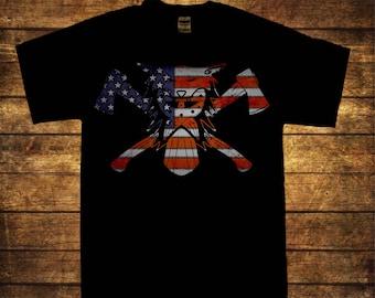 American Ulfhednar men's art print T shirt