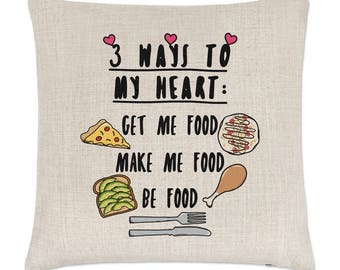 3 Ways To My Heart Linen Cushion Cover