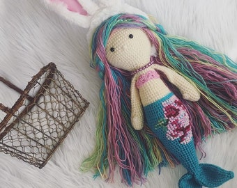 Amigurumi mermaid, crochet mermaid, easter mermaid