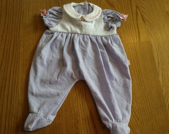 American Girl Bitty Baby Lavender Knit Sleeper ... Very Nice Condition ... Retired