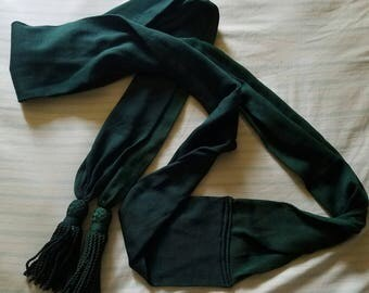 Green Medical Officer's Sash Civil War Uniform Confederate Union Reenacting Living History