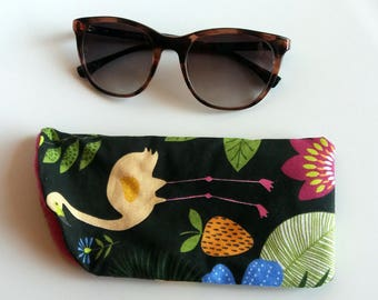 For glasses flamingos hibiscus and exotic plants