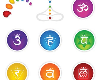Chakra Collection Vector Logo Elements