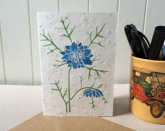 Love-in-a-Mist - Plantable Card - Seed Card - Blue Flower - Galentines / Valentine's Day / Mother's Day - Wedding Stationery - Save the Date