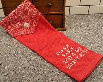Kitchen Towel - Classy Sassy and A Bit Smart Assy - Pioneer Woman Towel
