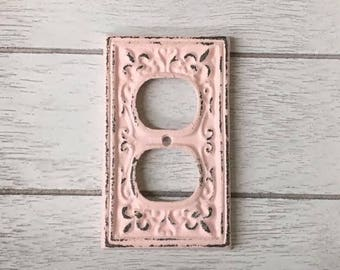 Outlet Cover-24 Colors/Switch plate/Plug Cover/Shabby Chic/Plug Plate/Vintage Plug Plate/Vintage Outlet Cover/The Shabby Store/Nursery