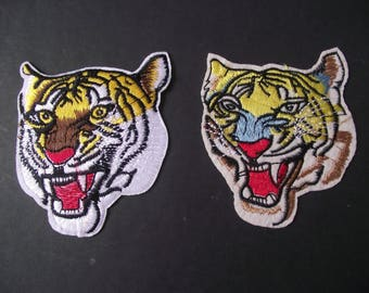TIGER HEAD Applique,JUNGLE Cat Applique,Jungle Tiger Iron On,Sewing Notion,Clothing Patch,Craft Supply,Craft,Feline,Jungle Cat,Tiger Face