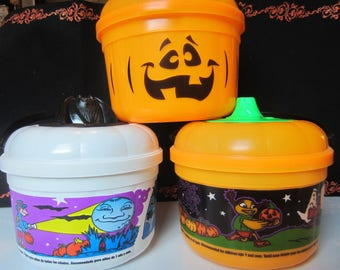 McDonalds Halloween Trick or Treat Boo Buckets Trio #2 Vintage 1990s Cookie Cutter