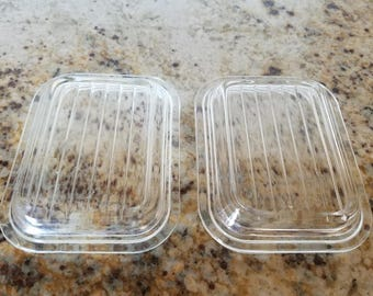 Two New Style Pyrex 501 Refrigerator Dish lids 501c